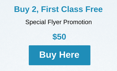"""Buy 2, First Class Free"" Buy Button"